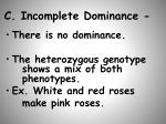 c incomplete dominance