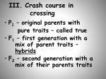 iii crash course in crossing