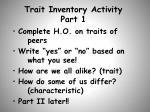 trait inventory activity part 1