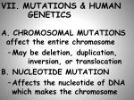 vii mutations human genetics