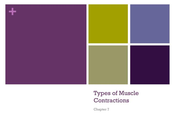 types of muscle contractions n.