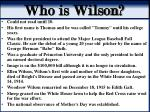 who is wilson