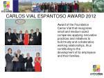 carlos vial espantoso award 2012