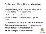 criterios practicas laborales