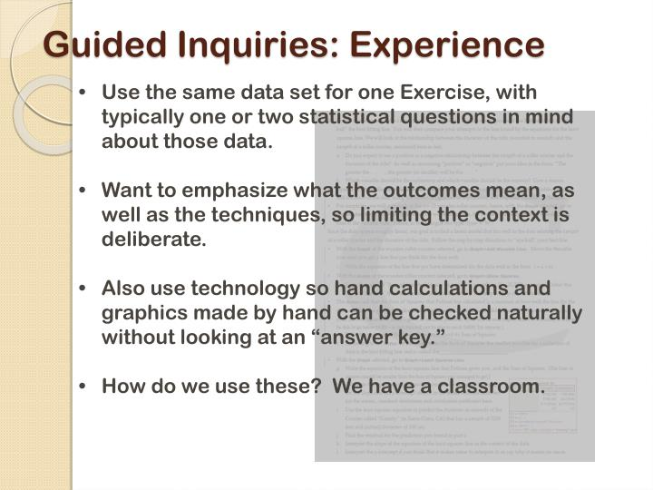 Guided Inquiries