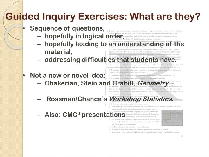 Guided Inquiry Exercises: What are they?