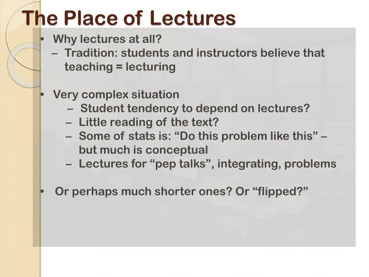 The Place of Lectures