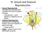 iii sexual and asexual reproduction