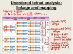 unordered tetrad analysis linkage and mapping