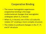 cooperative binding
