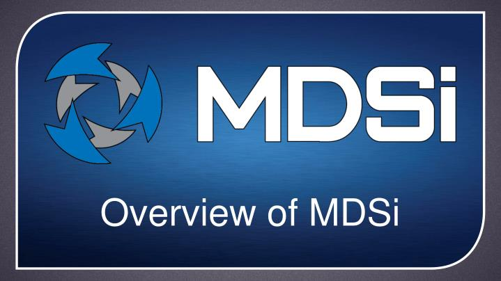 overview of mdsi n.