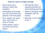 gottman s tips for a happy marriage