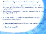 how personality evokes conflicts in relationships