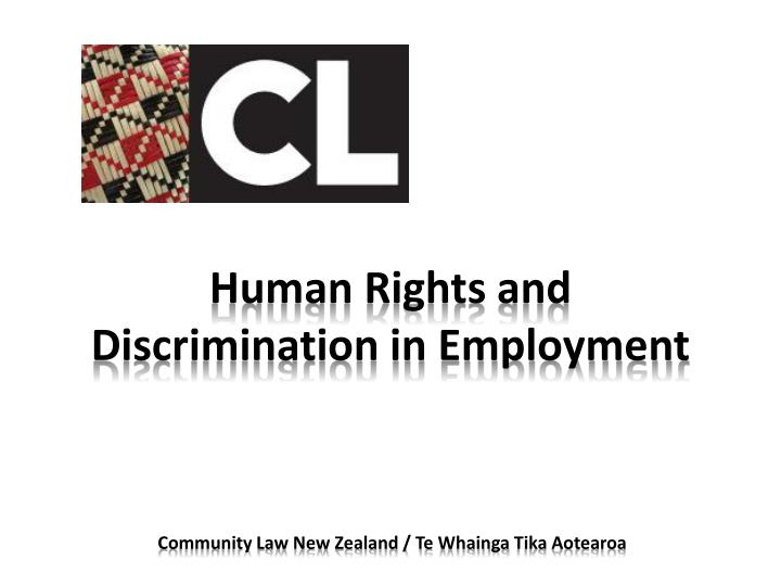 human rights and discrimination in employment n.