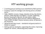 htf working groups