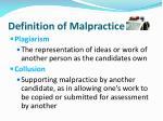 definition of malpractice