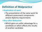 definition of malpractice1