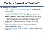 the path forward to confront