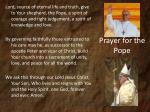 prayer for the pope