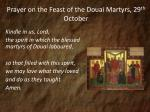 prayer on the feast of the douai martyrs 29 th october