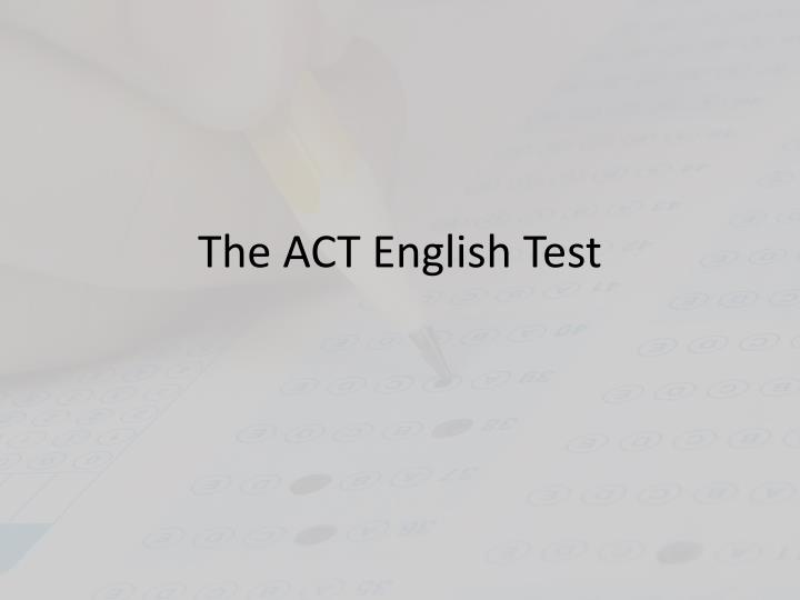 the act english test n.