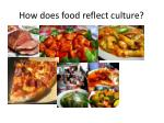 how does food reflect culture