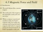 6 3 magnetic force and field1