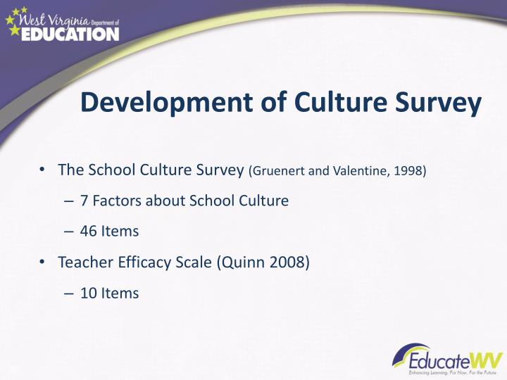 Development of Culture Survey