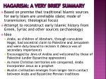 hagarism a very brief summary