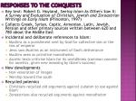 responses to the conquests