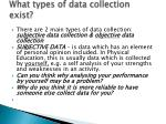 what types of data collection exist