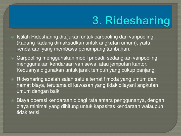 3. Ridesharing