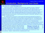 introduction background and goals