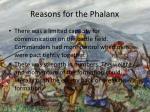 reasons for the phalanx