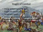stages of combat