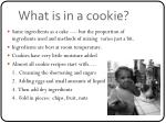 what is in a cookie