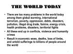 the world today