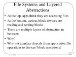 file systems and layered abstractions