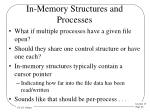 in memory structures and processes