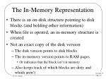 the in memory representation
