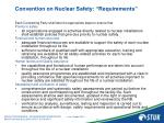 convention on nuclear safety requirements2