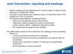joint convention reporting and meetings
