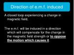 direction of e m f induced2