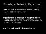 faraday s solenoid experiment