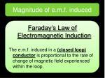 magnitude of e m f induced1