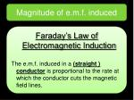 magnitude of e m f induced2
