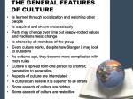 the general features of culture