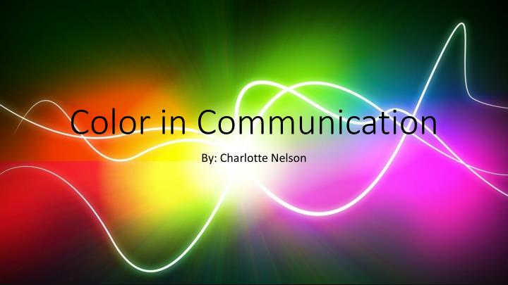 color in communication n.