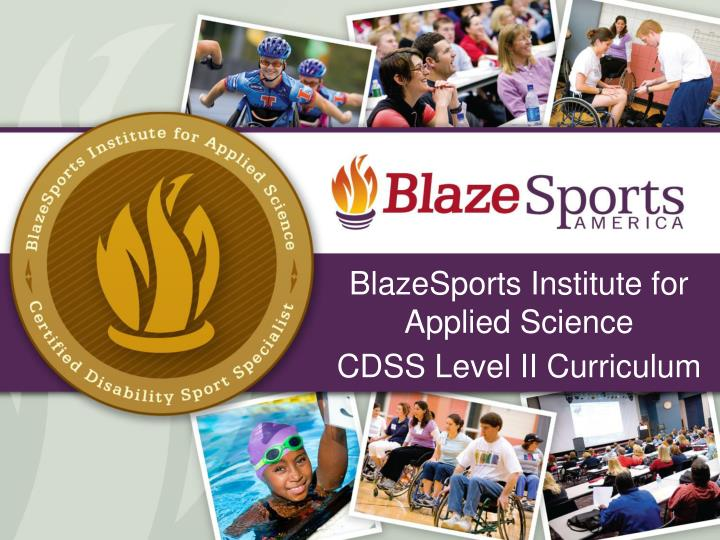 blazesports institute for applied science cdss level ii curriculum n.