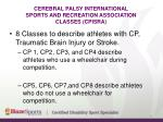 cerebral palsy international sports and recreation association classes cpisra